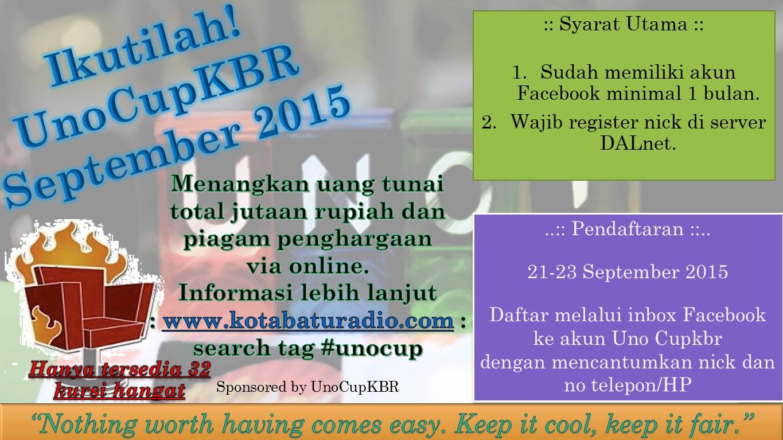 UnoCupKBR Single Sept