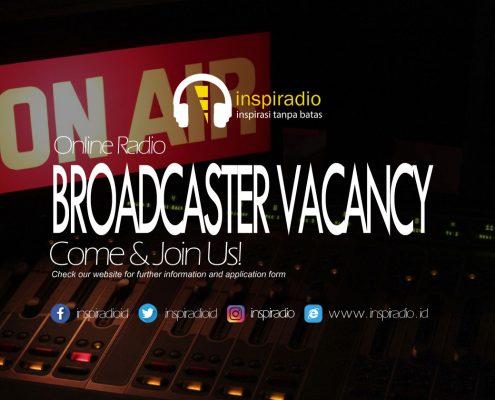 inspiradio-broadcaster vacancy